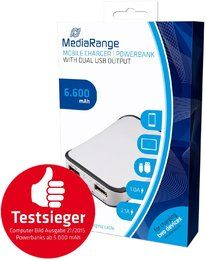 MediaRange MR742 Powerbank mit 6.600mAh