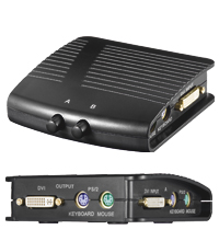 DVI Umschaltbox 2in / 1out + PS/2