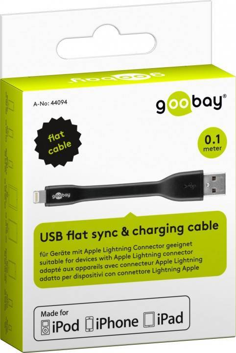 Apple Lightning USB Lade- und Synchronisationskabel; Flachkabel